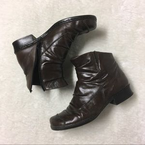 Reiker Leather Ankle Heel Boot Fall Winter Size 9